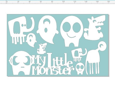 My little monsters 110 x 180mm min buy 3